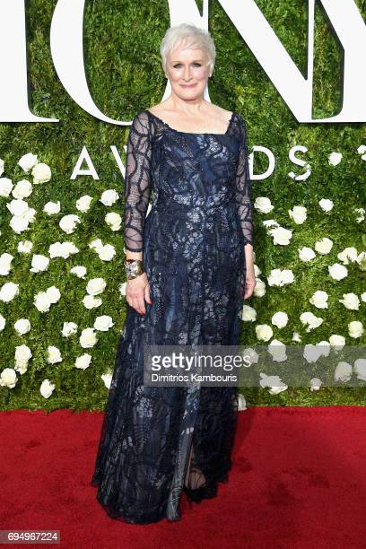 Glenn Close attends the 2017 Tony Awards at Radio City Music Hall on June 11 2017 in New York City