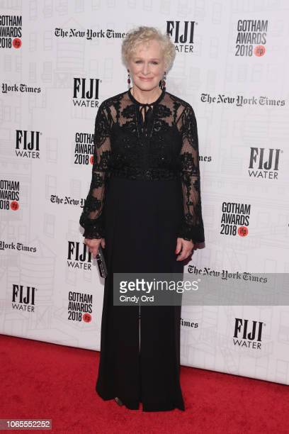Glenn Close attends the 2018 IFP Gotham Awards with FIJI Water at Cipriani Wall Street on November 26 2018 in New York City