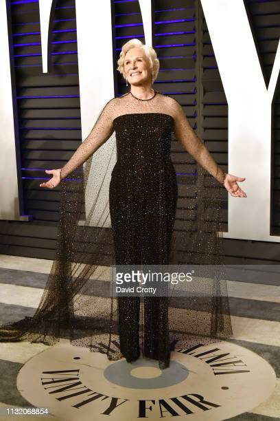 Glenn Close attends the 2019 Vanity Fair Oscar Party at Wallis Annenberg Center for the Performing Arts on February 24 2019 in Beverly Hills...