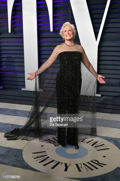 Glenn Close attends the 2019 Vanity Fair Oscar Party hosted by Radhika Jones at Wallis Annenberg Center for the Performing Arts on February 24, 2019...