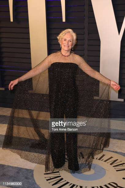 Glenn Close attends the 2019 Vanity Fair Oscar Party hosted by Radhika Jones at Wallis Annenberg Center for the Performing Arts on February 24 2019...