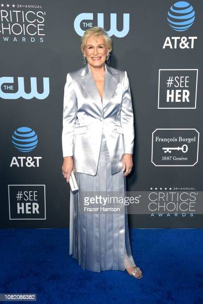 Glenn Close attends the 24th annual Critics' Choice Awards at Barker Hangar on January 13 2019 in Santa Monica California