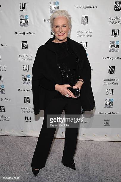 Glenn Close attends the 25th IFP Gotham Independent Film Awards cosponsored by FIJI Water at Cipriani Wall Street on November 30 2015 in New York City