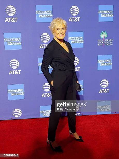 Glenn Close attends the 30th Annual Palm Springs International Film Festival Film Awards Gala at Palm Springs Convention Center on January 3 2019 in...