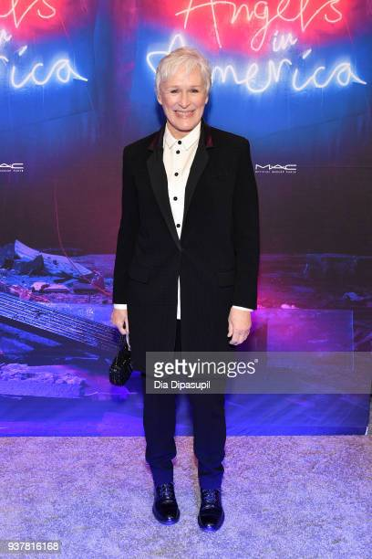 Glenn Close attends the 'Angels in America' Broadway Opening Night part 1 arrivals at the Neil Simon Theatre on March 25 2018 in New York City