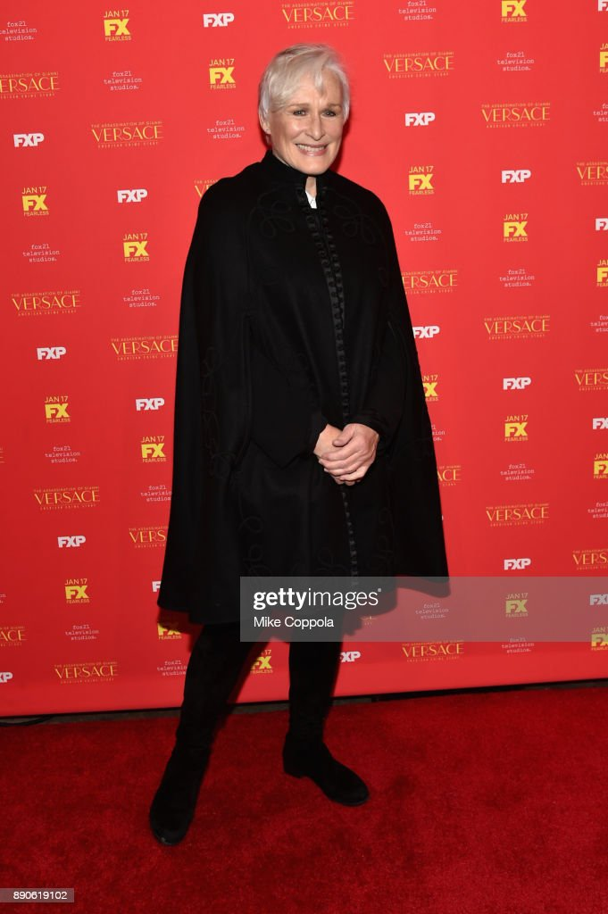 Glenn Close attends 'The Assassination Of Gianni Versace: American Crime Story' New York Screening at Metrograph on December 11, 2017 in New York City.