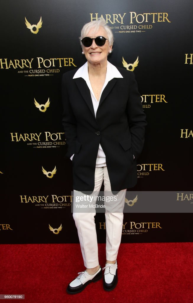 Glenn Close attends the Broadway opening day performance of 'Harry Potter and the Cursed Child Parts One and Two' at The Lyric Theatre on April 22, 2018 in New York City.
