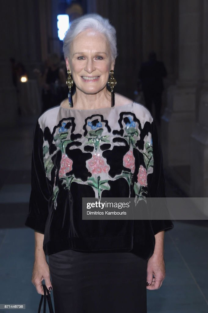 Glenn Close attends the Elton John AIDS Foundation Commemorates Its 25th Year And Honors Founder Sir Elton John During New York Fall Gala at Cathedral of St. John the Divine on November 7, 2017 in New York City.