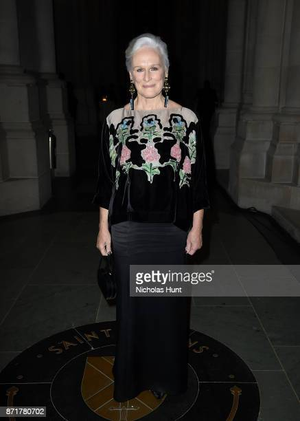 Glenn Close attends the Elton John AIDS Foundation Commemorates Its 25th Year And Honors Founder Sir Elton John During New York Fall Gala Inside at...