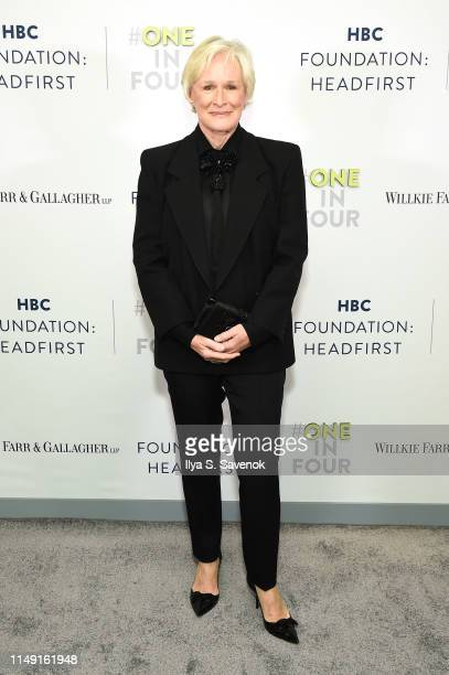 Glenn Close attends the HBC Foundation HEADFIRST Cocktail Reception at L'Avenue at Saks on May 14, 2019 in New York City.