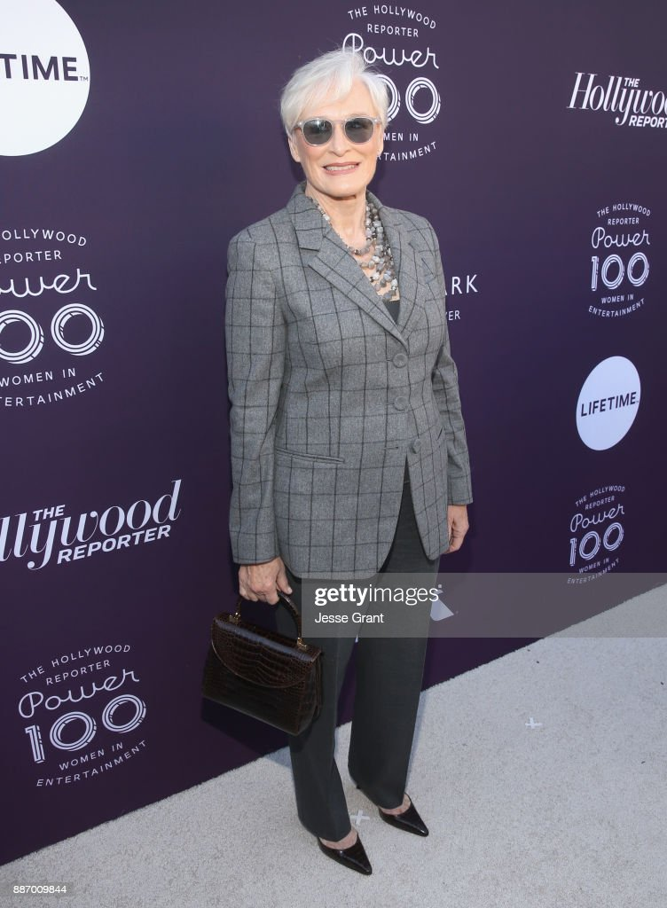 Glenn Close attends The Hollywood Reporter's 2017 Women In Entertainment Breakfast at Milk Studios on December 6, 2017 in Los Angeles, California.