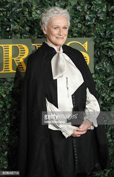 Glenn Close attends The London Evening Standard Theatre Awards at The Old Vic Theatre on November 13 2016 in London England