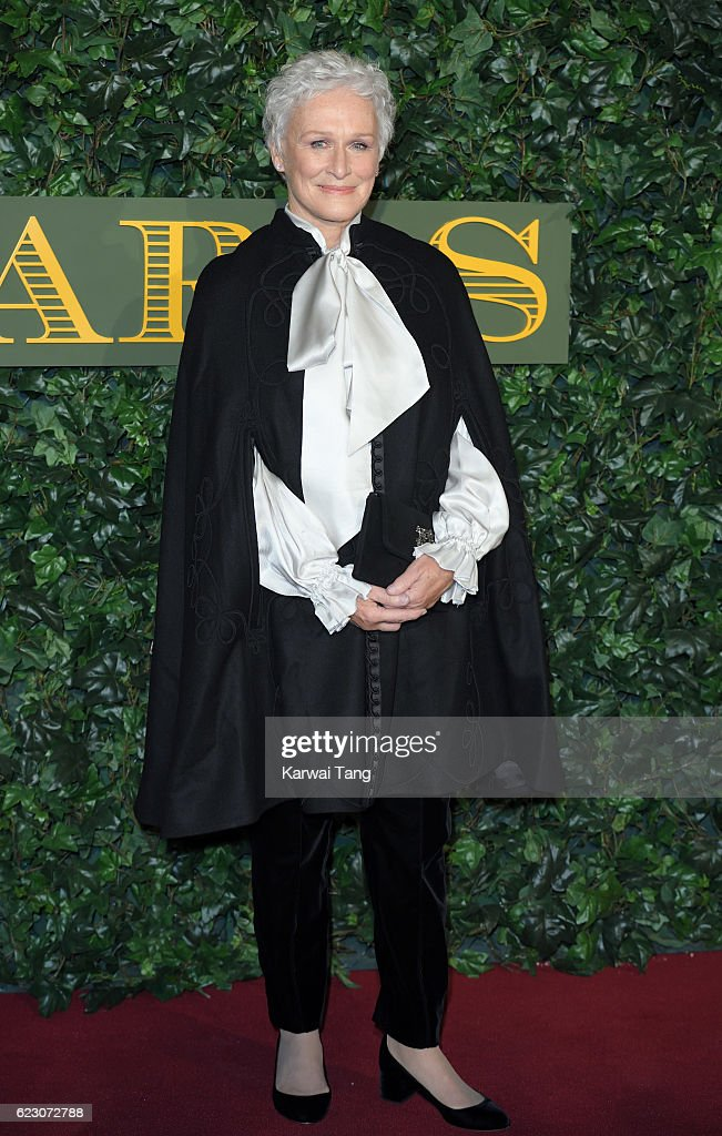 Glenn Close attends The London Evening Standard Theatre Awards at The Old Vic Theatre on November 13, 2016 in London, England.