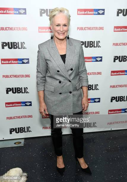 """Glenn Close attends the """"Mother Of The Maid"""" Opening Night Celebration at The Public Theater on October 17, 2018 in New York City."""