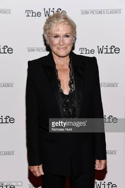 Glenn Close attends the New York Screening of 'The Wife' at The Paley Center for Media on July 26 2018 in New York City