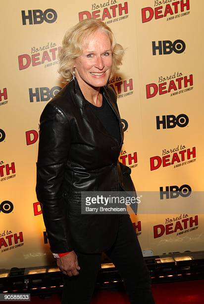 Glenn Close attends the premiere of HBO's Bored to Death at the Clearview Chelsea Cinemas on September 10 2009 in New York City