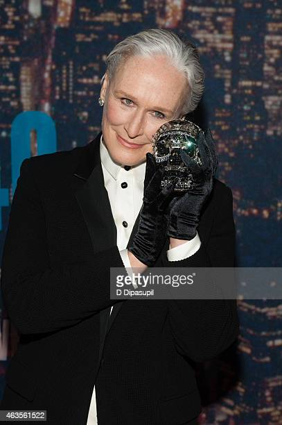 Glenn Close attends the SNL 40th Anniversary Celebration at Rockefeller Plaza on February 15 2015 in New York City