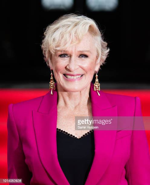 Glenn Close attends the UK Premiere of 'The Wife' at Somerset House on August 9 2018 in London England