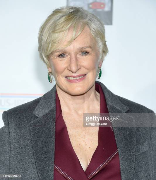Glenn Close attends the USIreland Alliance 14th Annual Oscar Wilde Awards at Bad Robot on February 21 2019 in Santa Monica California