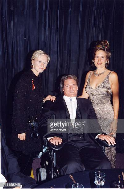 Glenn Close, Christopher Reeve & Dana Reeve during 49th Annual Primetime Emmy Awards in Los Angeles, California, United States.