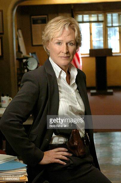 """Glenn Close during Glenn Close and Michael Chiklis on Set of FX Series """"The Shield"""" - March 3, 2005 at FX """"The Shield"""" Set in Los Angeles,..."""