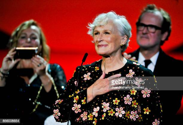 Glenn Close during 'The Wife' film premiere during 65th San Sebastian Film Festival at Kursaal on September 30, 2017 in San Sebastian, Spain.