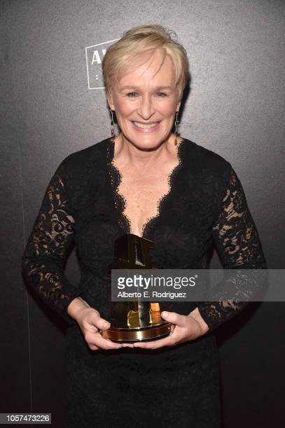 Glenn Close Hollywood Actress Award recipient poses in the press room during the 22nd Annual Hollywood Film Awards at The Beverly Hilton Hotel on...