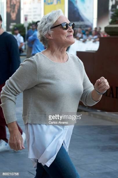 Glenn Close is seen arriving at the Maria Cristina Hotel during the 65th San Sebastian International Film Festival on September 28 2017 in San...