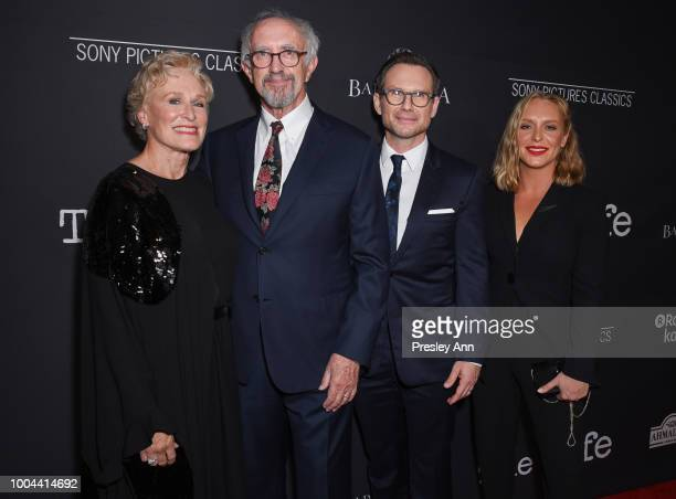 Glenn Close Jonathan Pryce Christian Slater and Annie Starke attend Sony Pictures Classics' Los Angeles Premiere of The Wife at Pacific Design Center...