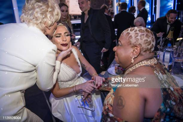 Glenn Close, Lady Gaga, and Luenell at the 25th Annual Screen Actors Guild Awards cocktail party at The Shrine Auditorium on January 27, 2019 in Los...