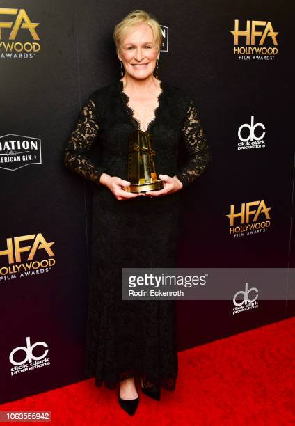 Glenn Close poses in press room at the 22nd Annual Hollywood Film Awards on November 04 2018 in Beverly Hills California