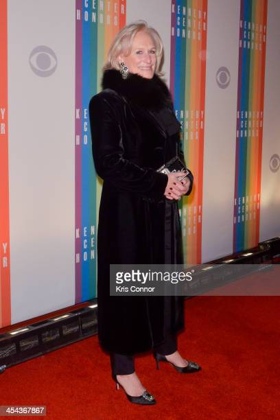 Glenn Close poses on the red carpet during the The 36th Kennedy Center Honors gala at the Kennedy Center on December 8 2013 in Washington DC