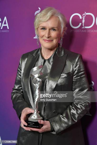 Glenn Close recipient of the Spotlight Award attends The 21st CDGA at The Beverly Hilton Hotel on February 19 2019 in Beverly Hills California