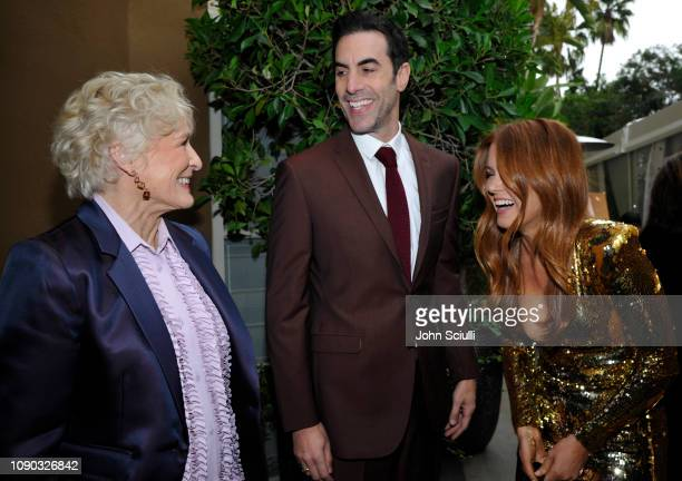 Glenn Close Sacha Baron Cohen and Isla Fisher arrive to the BAFTA Tea Party at The Four Seasons Hotel Los Angeles at Beverly Hills on January 05 2019...