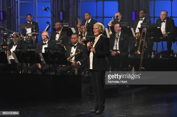 Glenn Close speaks during Jazz At Lincoln Center's 30th Anniversary Gala at Jazz at Lincoln Center on April 18 2018 in New York City