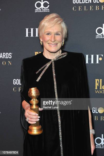 Glenn Close winner of Best Performance by an Actress in a Motion Picture Drama for 'The Wife' attends the official viewing and after party of The...