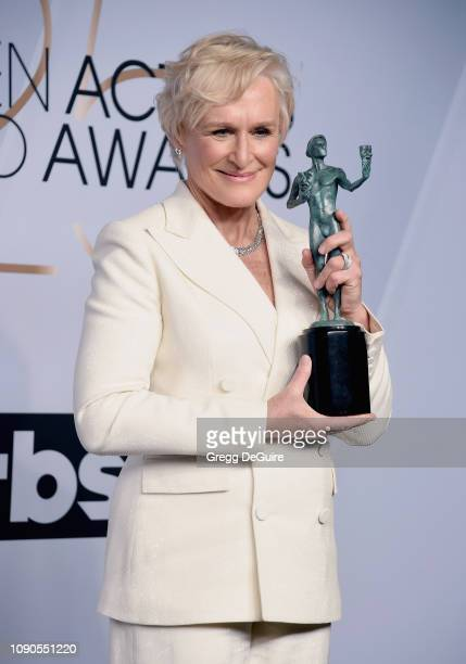 Glenn Close winner of Outstanding Performance by a Female Actor in a Leading Role for 'The Wife' poses in the press room during the 25th Annual...