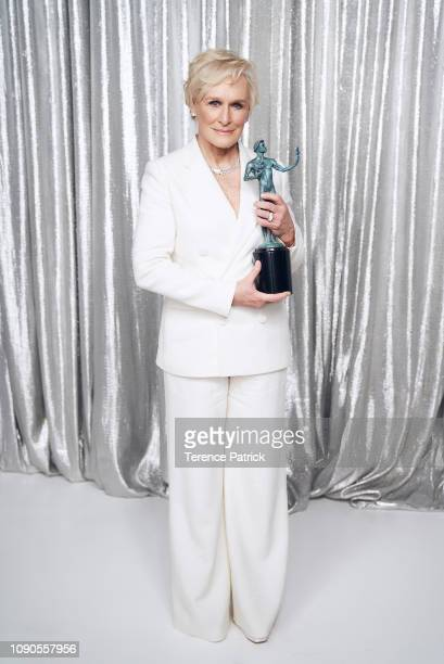 Glenn Close winner of Outstanding Performance by a Female Actor in a Leading Role for 'The Wife' poses in the Winner's Gallery during the 25th Annual...