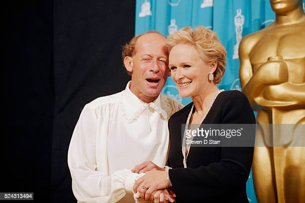 Glenn Close with David Helfgott the pianist on whom the movie Shine is based at the 69th annual Academy Awards