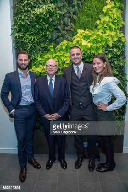 Glenn Davis Howard Lorber Justin Tuinstra and Skyler Rhoten attend the Alfa Development Launch Celebration on October 12 2017 in New York City