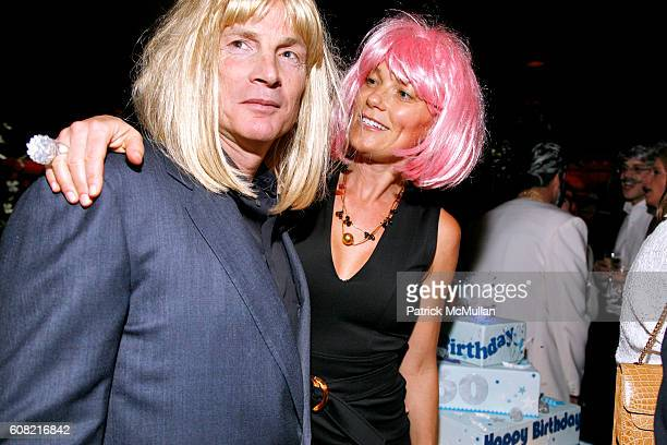 """Glenn Dubin and Eva Dubin attend WOODY JOHNSON's """"Wig Out"""" 60th Birthday Party at Doubles on April 12, 2007 in New York City."""