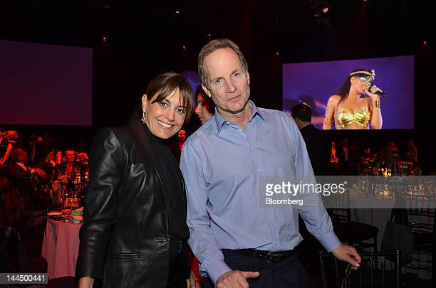 Glenn Dubin, chairman and chief executive officer of Highbridge Capital Mgmt LLC, right, and Laura Wasserman pose for a photograph at the Robin Hood...