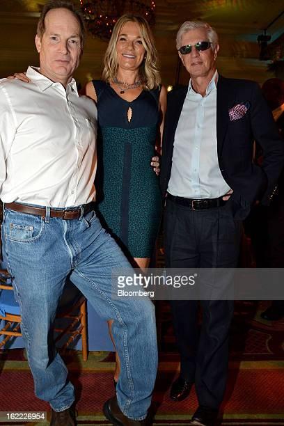 Glenn Dubin, co-founder of Highbridge Capital Management LLC, from left, Eva Dubin, an in-house physician with NBC Universal Media LLC, and Joel...