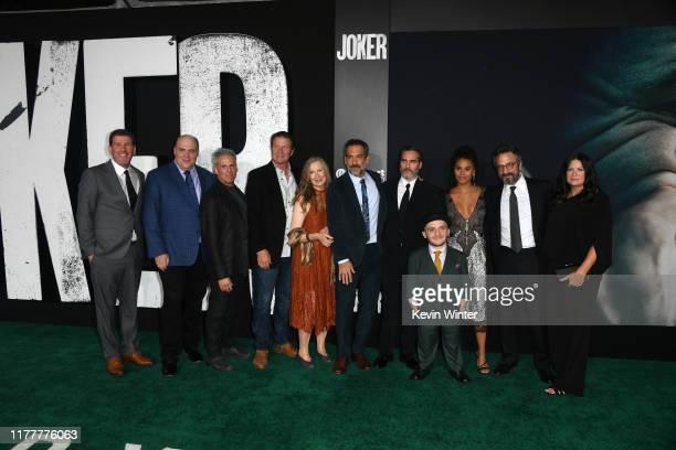 Glenn Fleshler Josh Pais Brett Cullen Frances Conroy Joaquin Phoenix Zazie Beetz Leigh Gill and Marc Maron attend the premiere of Warner Bros...