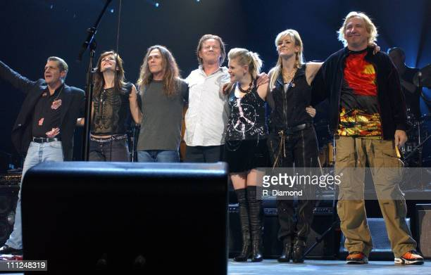 Glenn Frey Emily Robison Timothy BSchmit Don Henley Natalie Maines Martie Maguire and Joe Walsh