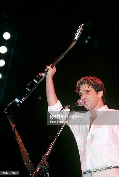 Glenn Frey of the Eagles performing at Madison Square Garden in New York City on August 1, 1985.