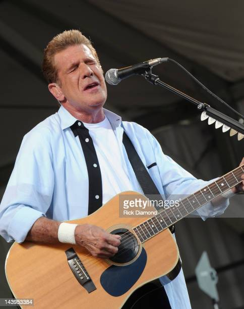 Glenn Frey of the Eagles performs during the 2012 New Orleans Jazz Heritage Festival Day 6 at the Fair Grounds Race Course on May 5 2012 in New...
