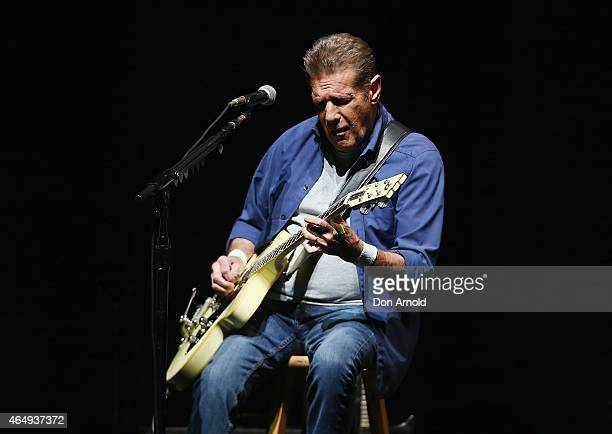 Glenn Frey of The Eagles performs live for fans at Qantas Credit Union Arena on March 2 2015 in Sydney Australia