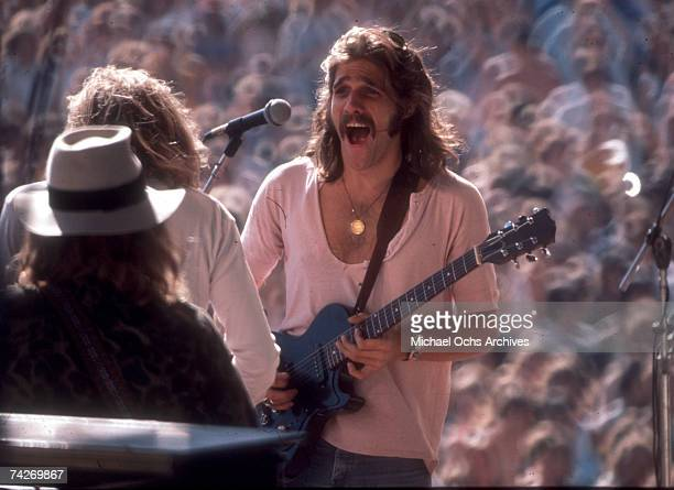 """Glenn Frey of the rock band """"Eagles"""" performing onstage in 1978."""