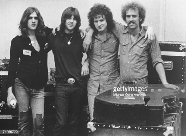 Glenn Frey Randy Meisner Don Henley and Bernie Leadon of the rock band Eagles pose for a portrait between 197073